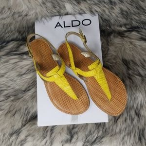 Aldo Size 8 Yellow Sandle